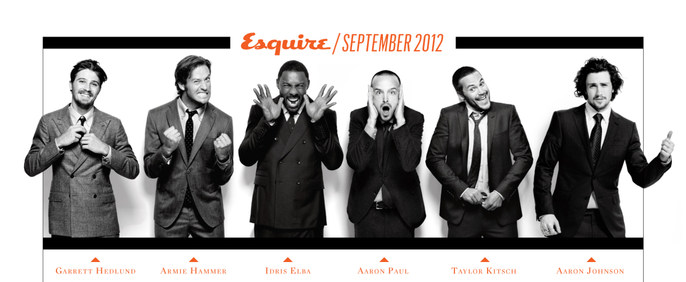 Garrett Hedlund Armie Hammer Aaron Paul And Johnson With Styling By Arianne Tunney