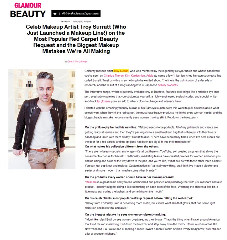 Tracey Mattingly - Artists - Makeup - Troy Surratt - Press