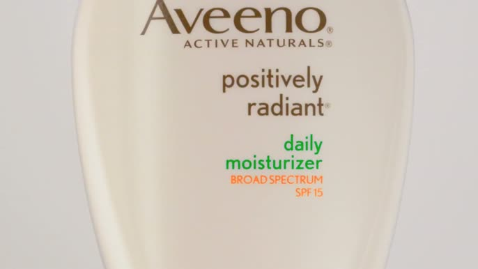 - Jennifer Aniston for Aveeno Positively Radiant Face Moisturizer